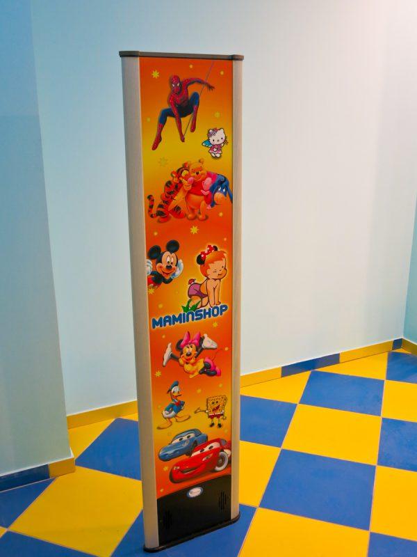 АНТИКРАЖНАЯ СИСТЕМА HS-202 LOGO, Реклама на антикражных воротах