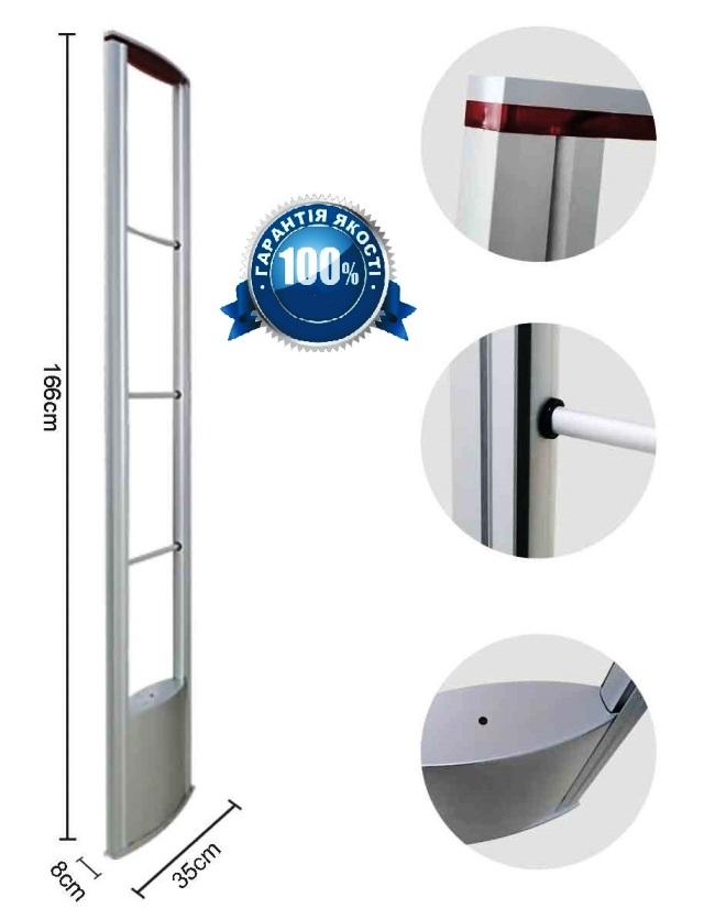 Качество сборки и дизайн антикражной системы Атлас Премиум на хорошем уровне.